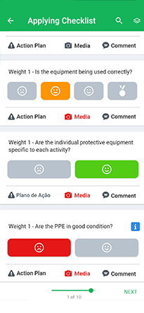 Easy Checklist app view on a mobile screen
